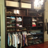 Custom Mahogany Closet Details