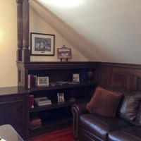 More custom home office paneling and trim