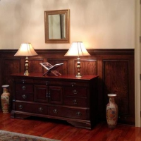 Additional custom office trim, wainscoting and paneling