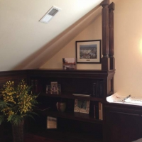 Custom bookcases and wainscoting by Commonwealth Contracting