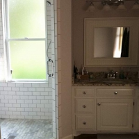 Bathroom Remodel--Country to Sleek