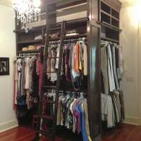 Custom Mahogany Closet