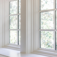 Custom window trim for Kiawah home