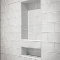 Toiletries niche in shower