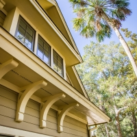 Arts and Crafts details on this Kiawah home